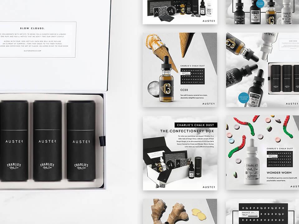 Vape Marketing Agency Social Media Posting Mockups and Promo Box