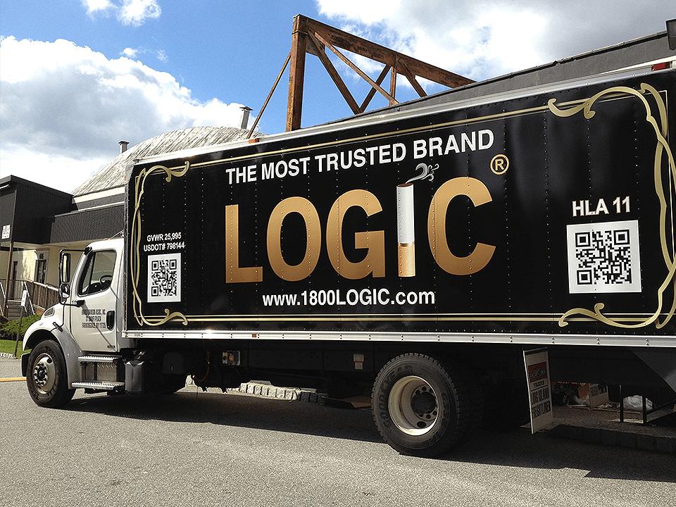 Vape Marketing Advertising on Truck of eCigarette and Vaping Retailer