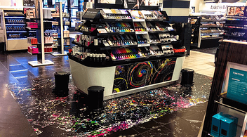 An Example Of Custom Floor Graphics At A Retail Store As A Part Of Experiential Marketing Campaign