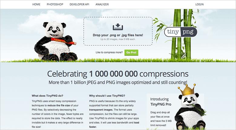 Optimizing Mobile Site TinyPNG Screenshot
