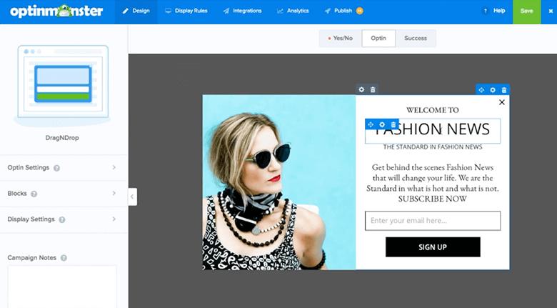 OptinMonster For Ecommerce Web Designer Screenshot