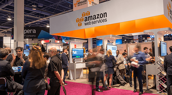 Amazon Web Services Stand At An Experiential Marketing Event