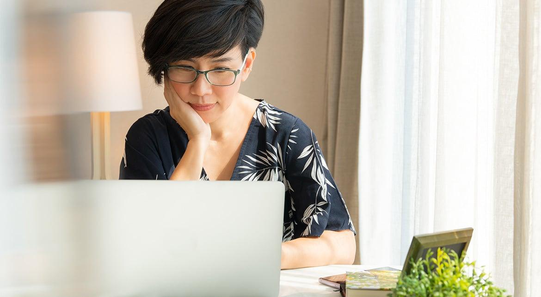 Customer Shopping Online On Laptop