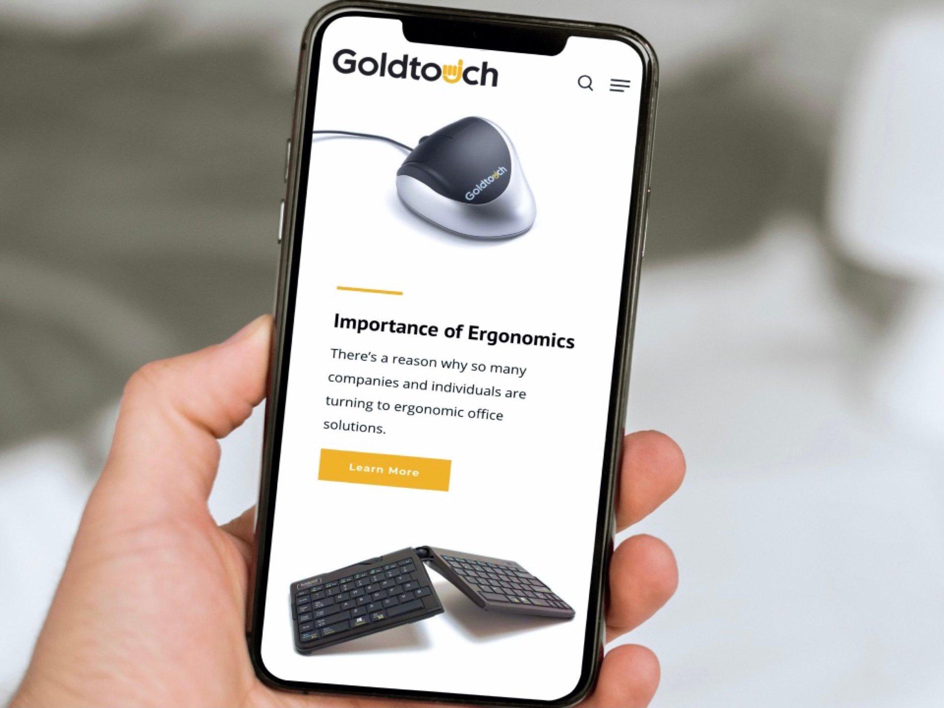 Technology Brand Website Mockup On Smartphone Screen