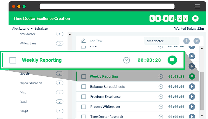 Time Tracking Report Screenshot