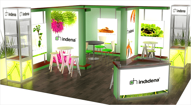 Trade Show Exhibits Blog - Example of an Island With Space For Tables and Chairs