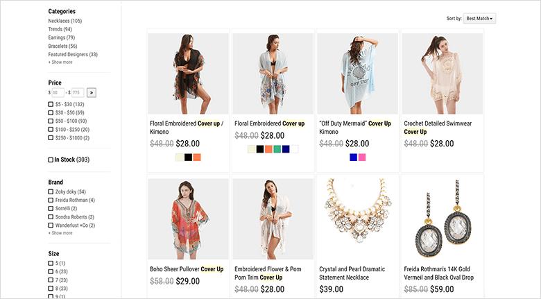 Web Design Techniques Blog Screenshot of Catalog InSite Search