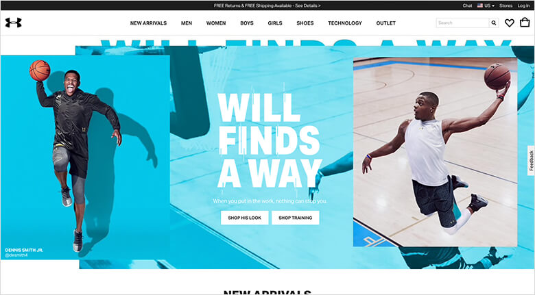 Web Design Techniques Blog - Visual Content - Two Men Jumping With Basketballs