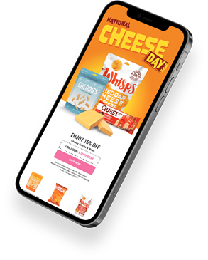 Shopify Design Agency Graphic Featuring Klaviyo Experts Email Design of Cheese Day Promotion