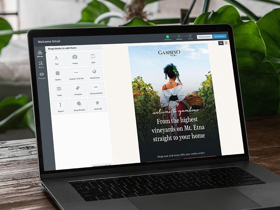 Winery E-Mail Marketing Mockup for Spirits Company