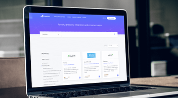 Laptop With BigCommerce App On Screen