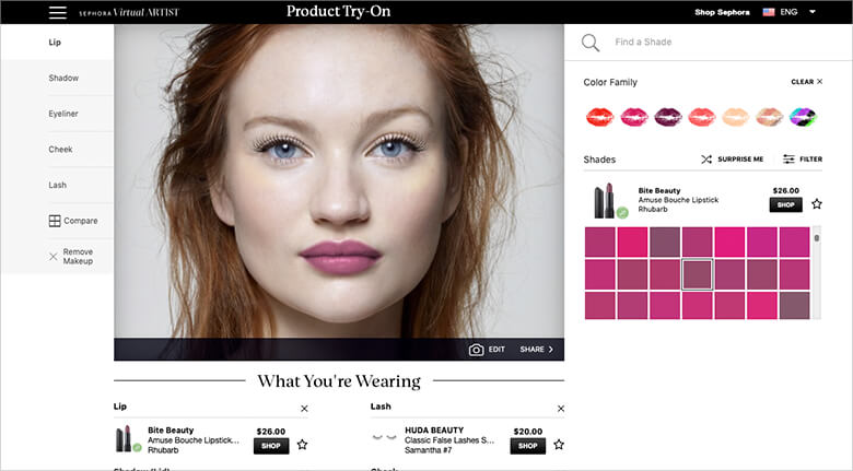 Sephora Makeup Brand eCommerce Store Ordering System