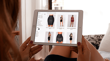 A Woman Browsing An eCommerce Site On A Tablet