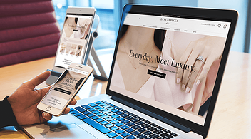 Various Devices Showing Responsive Design Of An eCommerce Website