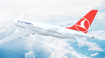 A Turkish Airlines Plane Used For The Company's Social Media Campaign