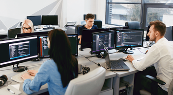 Web Development Agency Office With Employees At Their Desks