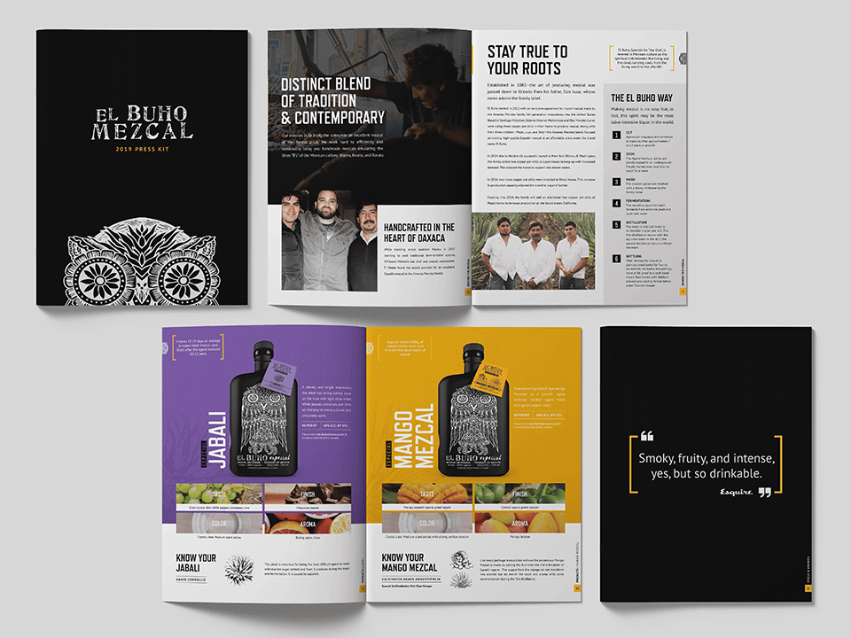 Press Kit For Alcoholic Beverage Designed By An Alcohol Brand Marketing Agency