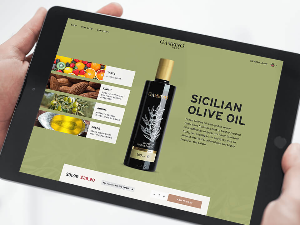 Winery Marketing Mockup with Tablet Showing Wine Website