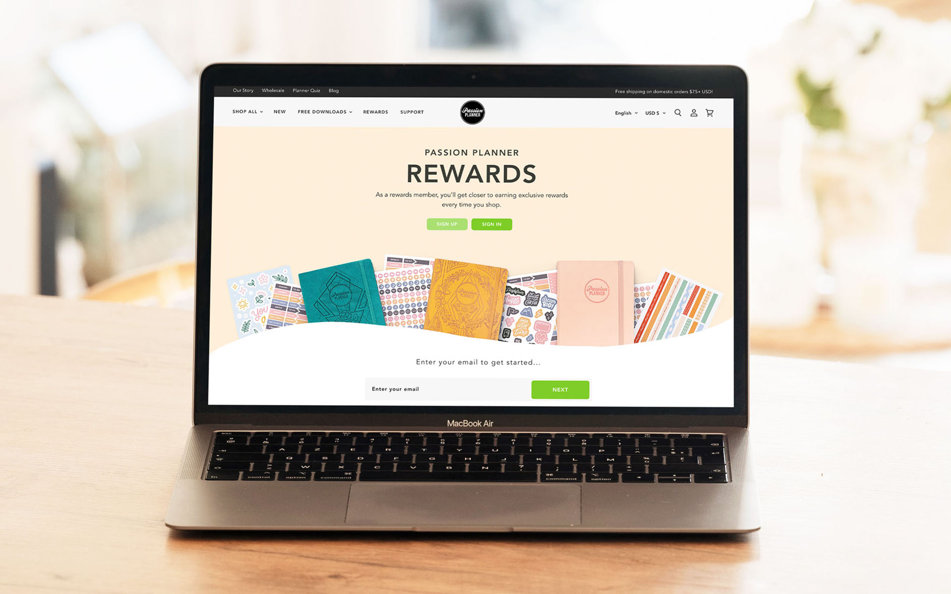BigCommerce Agency Website Passion Planner Pictured On Laptop Mockup
