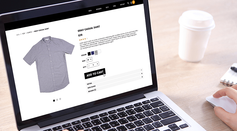BigCommerce Page Example On Laptop Screen