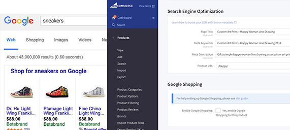 BigCommerce SEO, Examples of Big Commerce Search Results In Chart Form