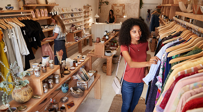 People Shopping Designer Items In An eCommerce Store Pop-up