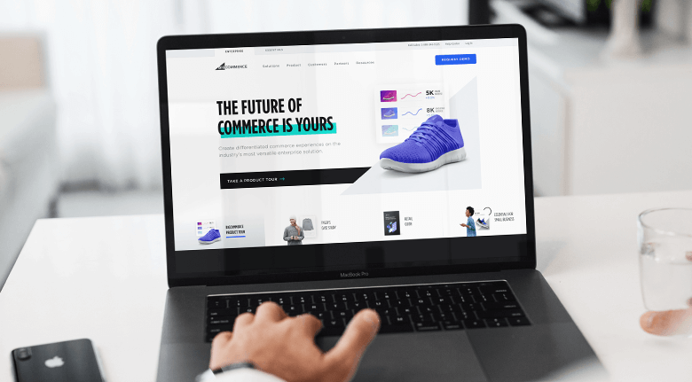 Laptop With Bigcommerce Example Website On Screen