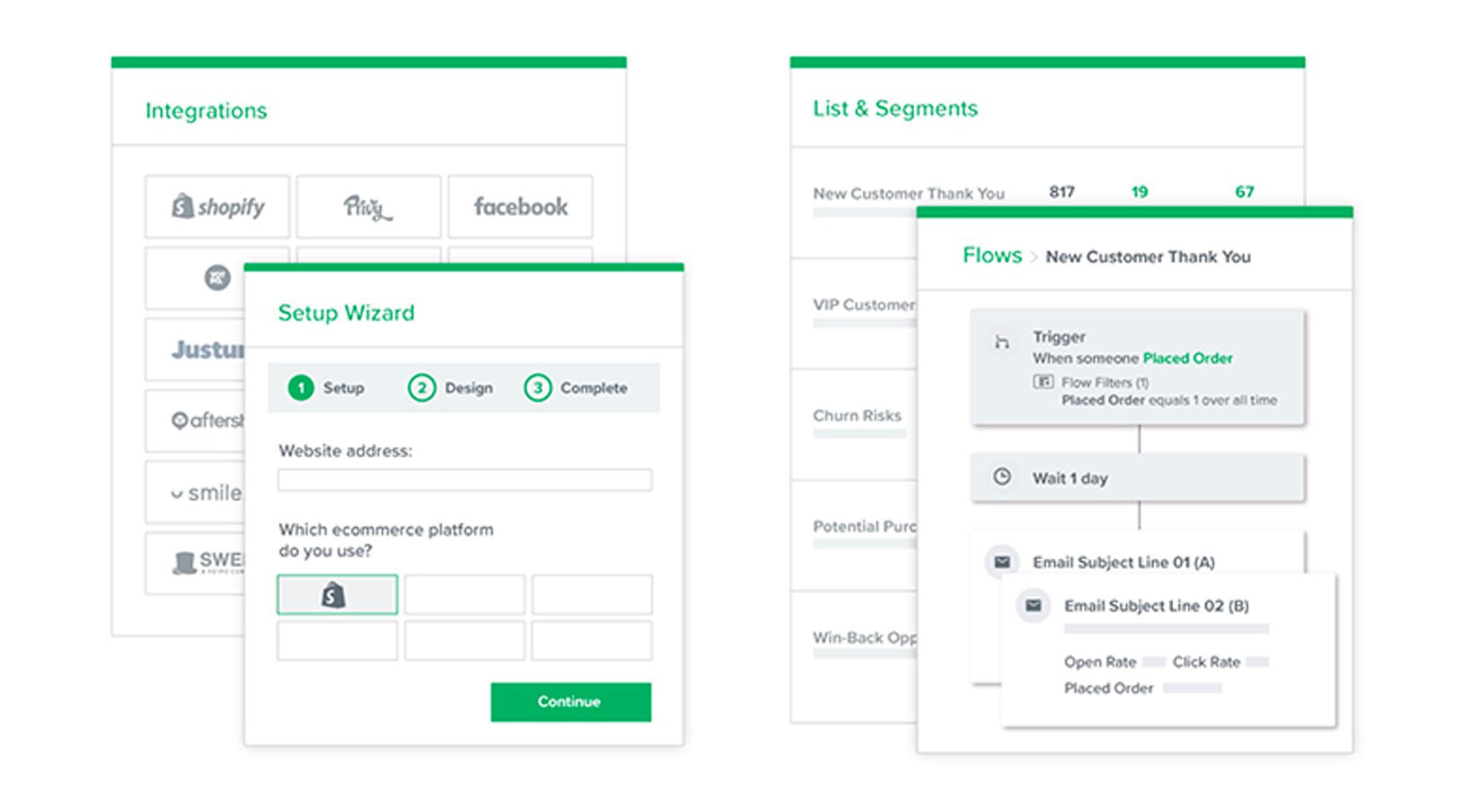 Email Marketing Platform Design Mockup