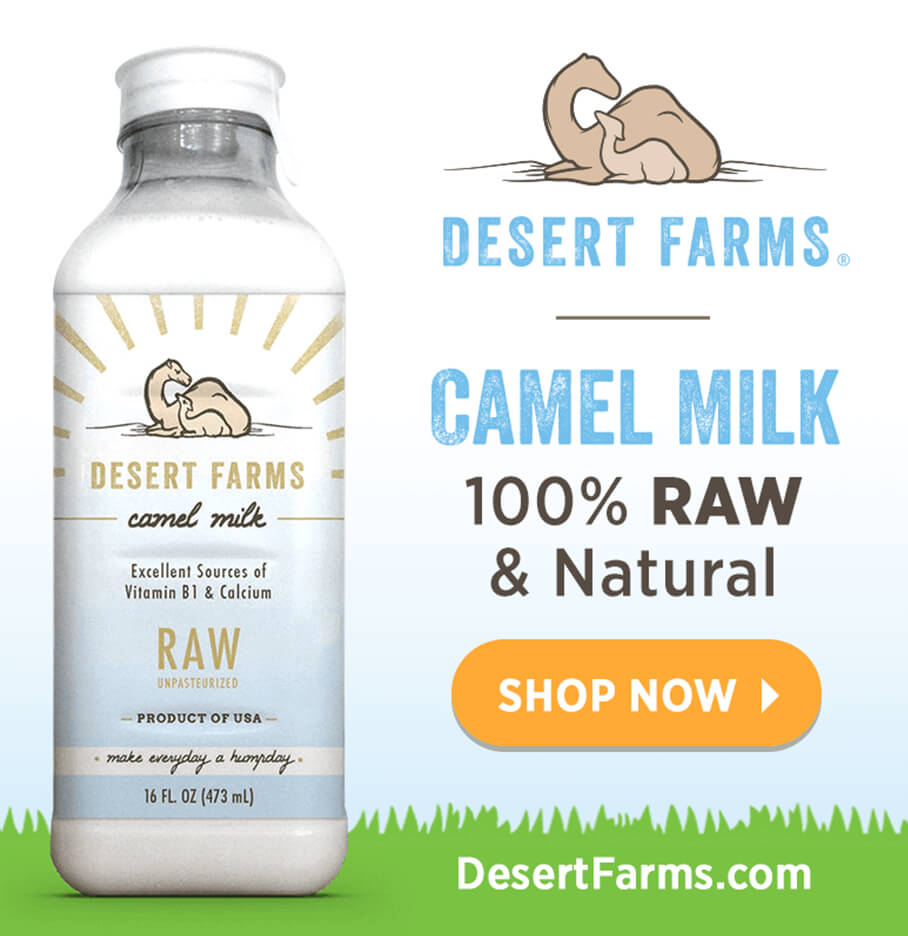 Media Buying Example Of An Online Ad For Camel Milk