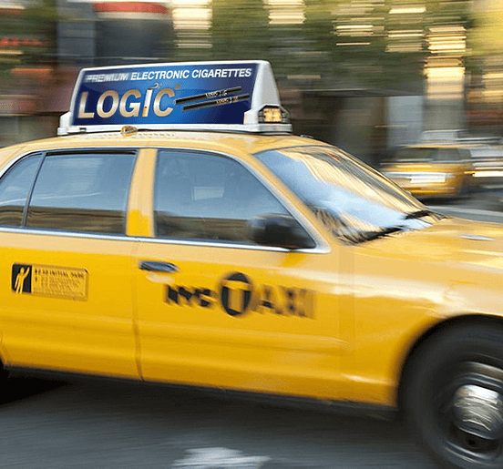 Expert Media Buying Company Example Of Ad On Top Of Taxi