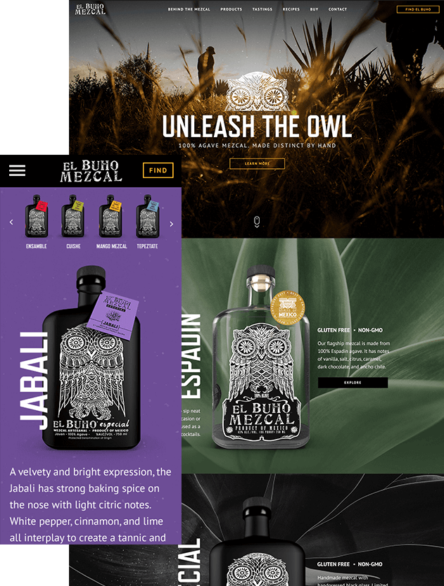 Expert Web Development Resulted In These Images Of A Tequila Website