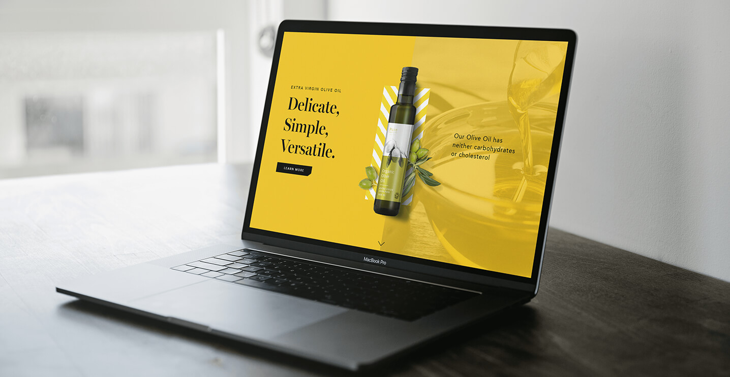 Expert WordPress Web Development Shown For Olive Oil Company On MacBook Pro Screen