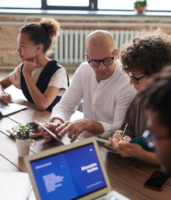 Digital Marketing Team Are Discussing Marketing Plan