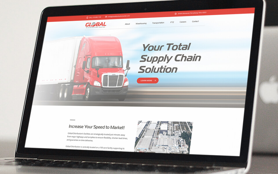 Full-Service Web Development Agency Featuring Website Design for Global Transportation Company