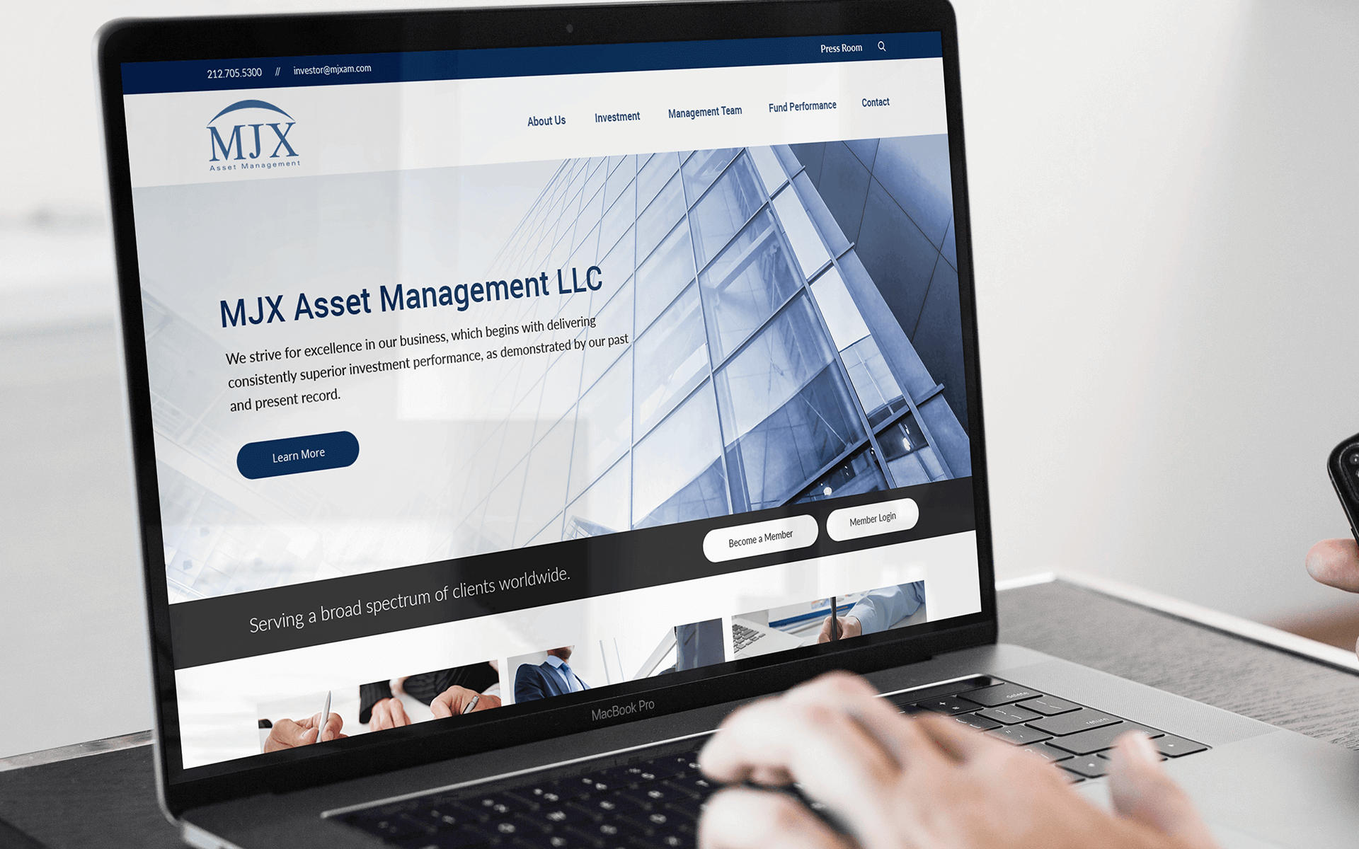 Full-Service Web Development Company for Asset Management Company on Desktop