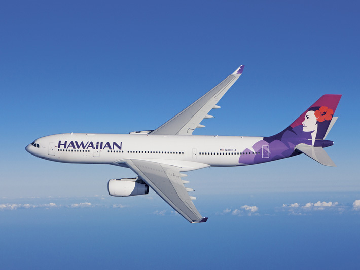 Hawaiian Airlines Aircraft In The Sky