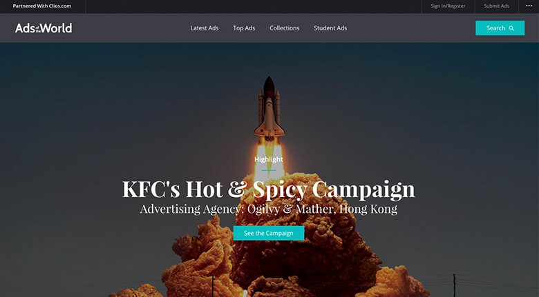KFC Ads of The World Example With Space Shuttle