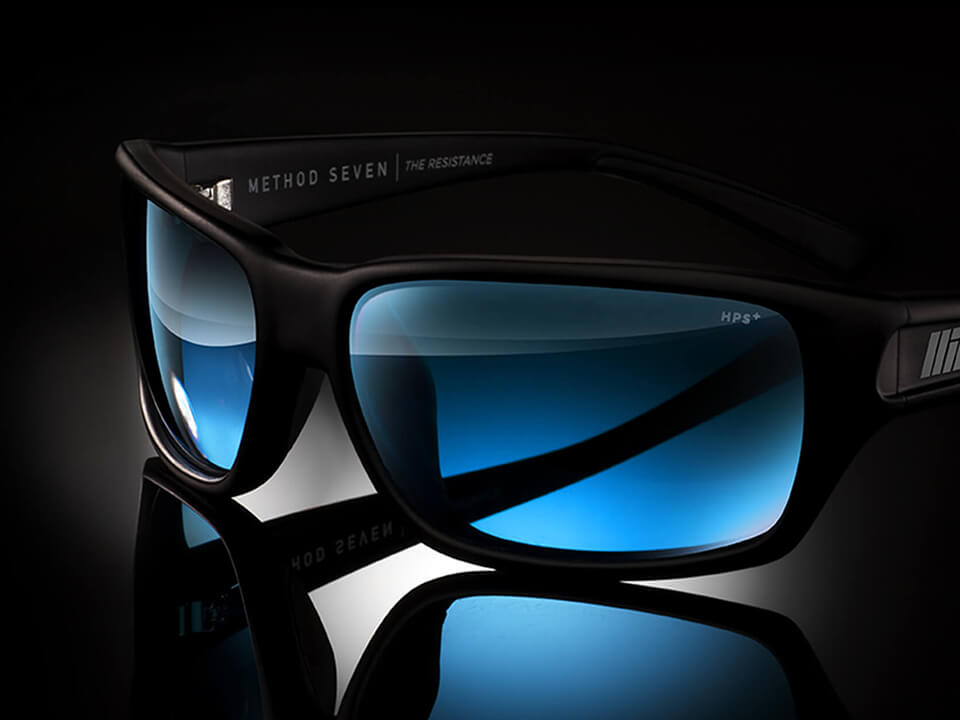 Closeup Photo Of Blue Sunglasses For Jewelry and Apparel Marketing