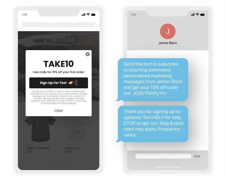SMS Marketing Design Mockup