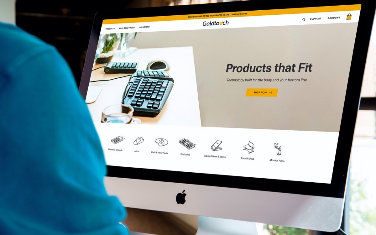 UX Design Mockup For Technology Company On Desktop Screen