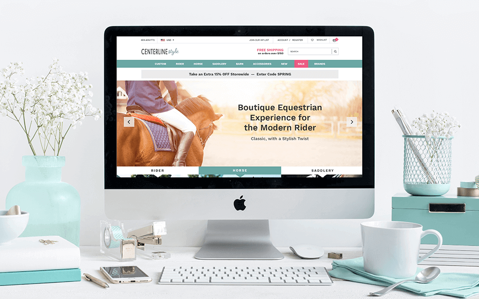 Equestrian BigCommerce Website Design Render on iMac