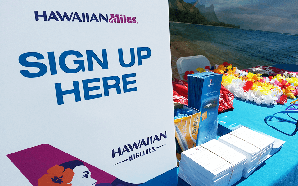 Event Marketing Company for Airlines Brand With A Signup Table On The Beach