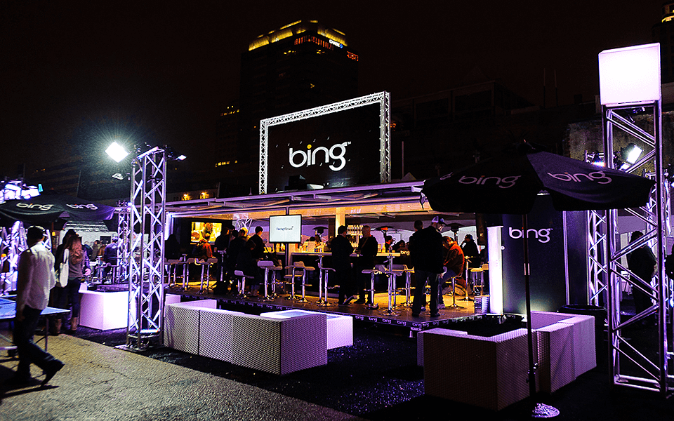Experiential Marketing Event Activation Featuring Bing Brand Using Shipping Containers