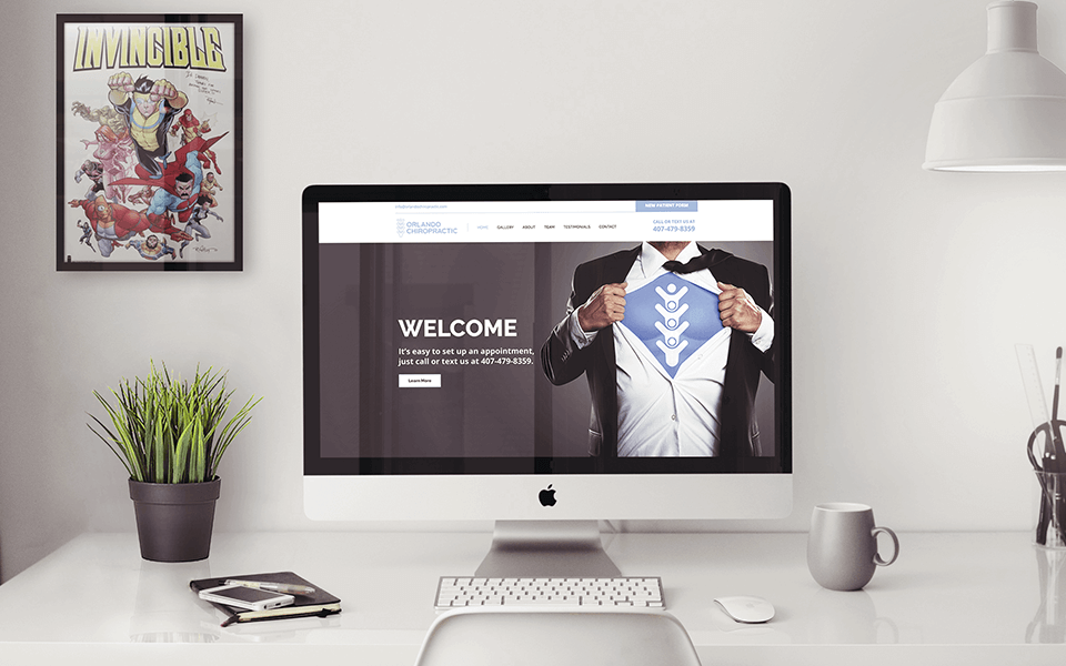 Medical Services Marketing Company for Chiropractic on Desktop