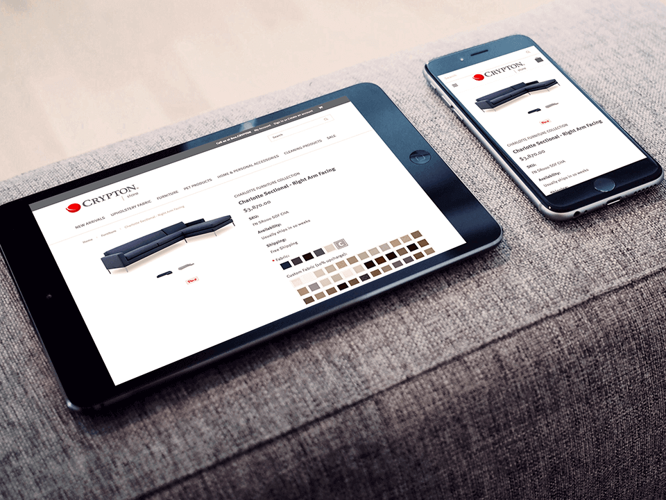Textile Marketing Company BigCommerce Development For Mobile Devices