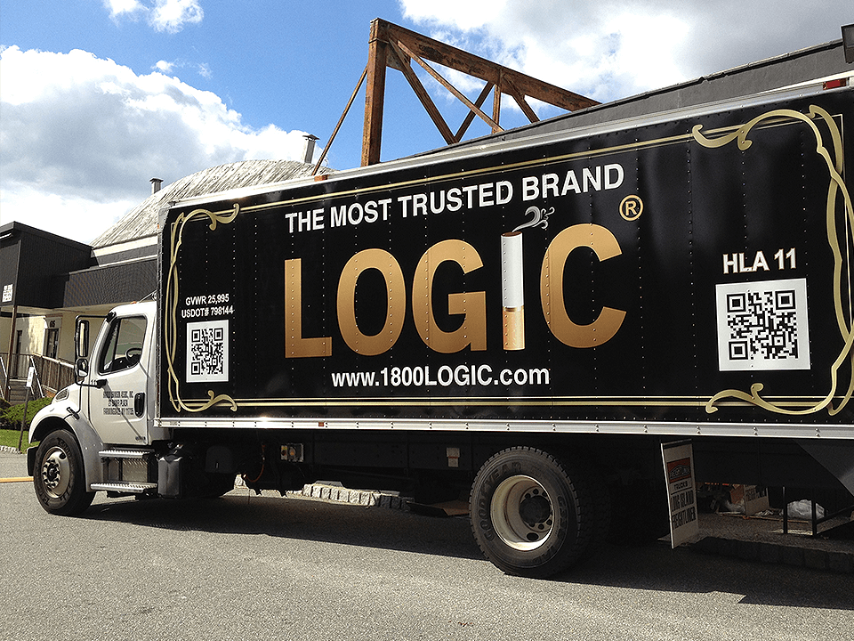 Vape Marketing Advertising on Truck of eCigarette and Vaping Retailer