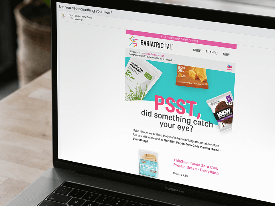 Medical Marketing Company Browse Abandonment Email Design