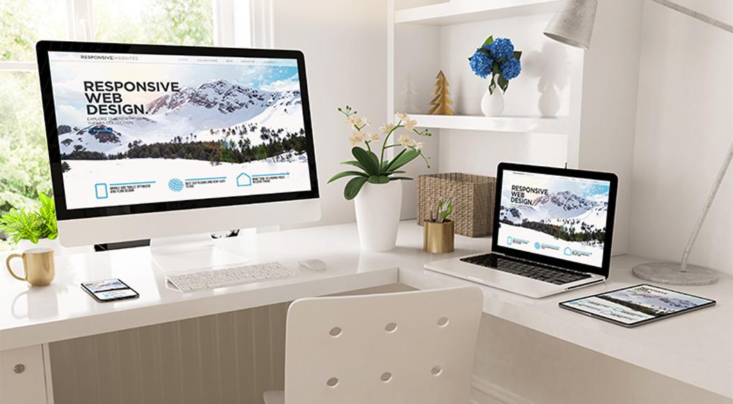 eCommerce Website Design Mockup on Multiple Appliances