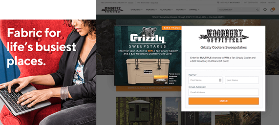 Social Media Marketing Agency Graphic Ads For Hunting Brand and Furniture Warehouse