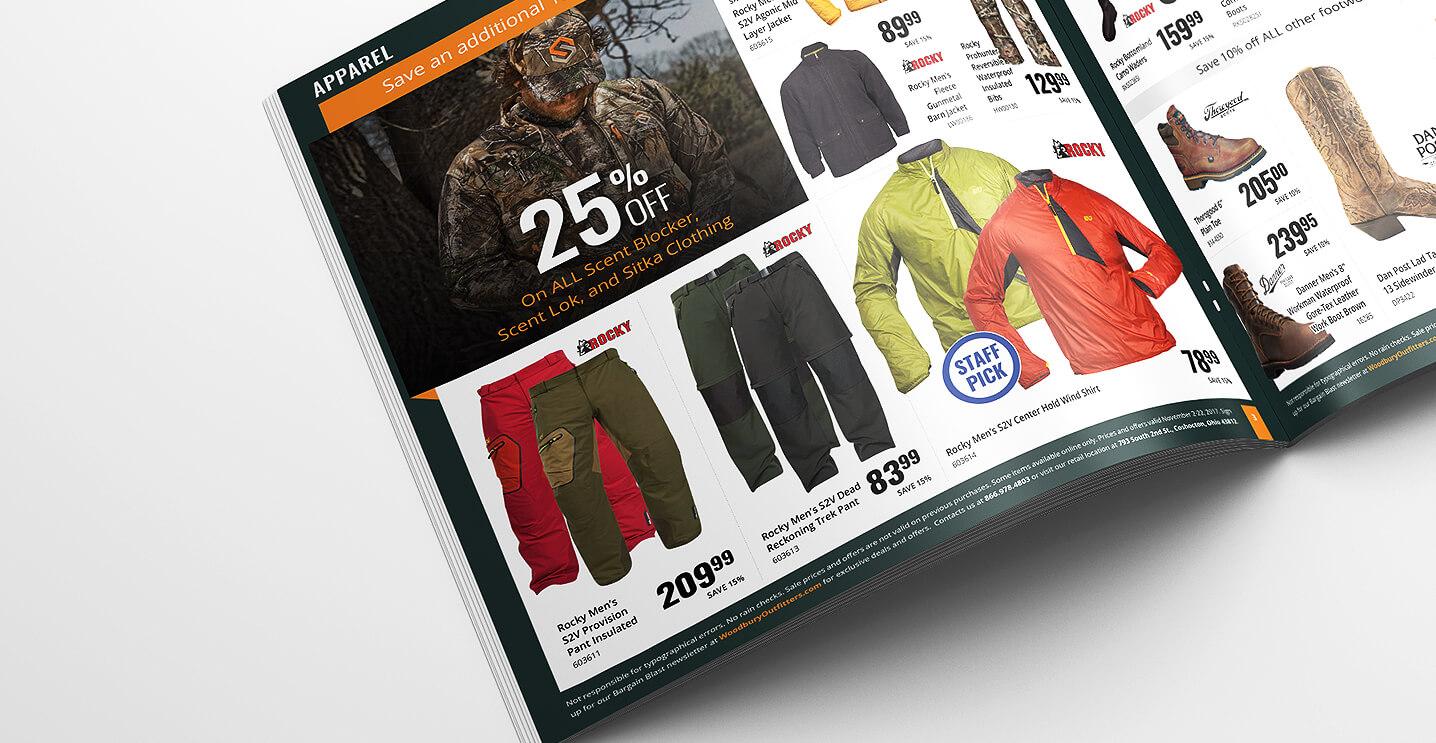 Outdoor Apparel Catalog Design
